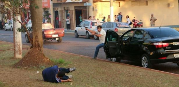 O autor dos disparos foi identificado como o servidor público Gilberto Ferreira do Amaral, 53 (Foto: Reprodução)