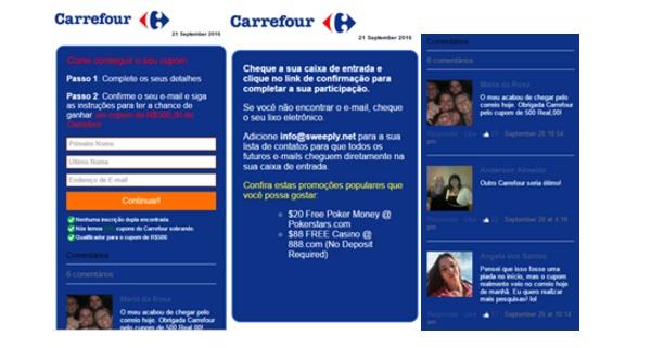 Hackers usam falsa promoção do Carrefour para infectar brasileiros