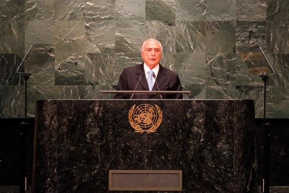 Na ONU, Temer diz que impeachment respeitou ordem constitucional