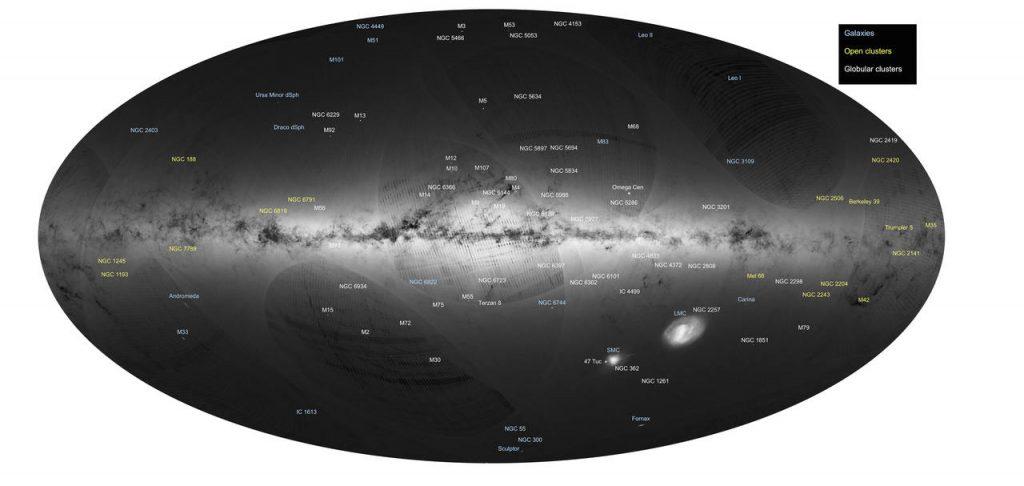 Satélite Gaia envia mapa detalhado da Via Láctea