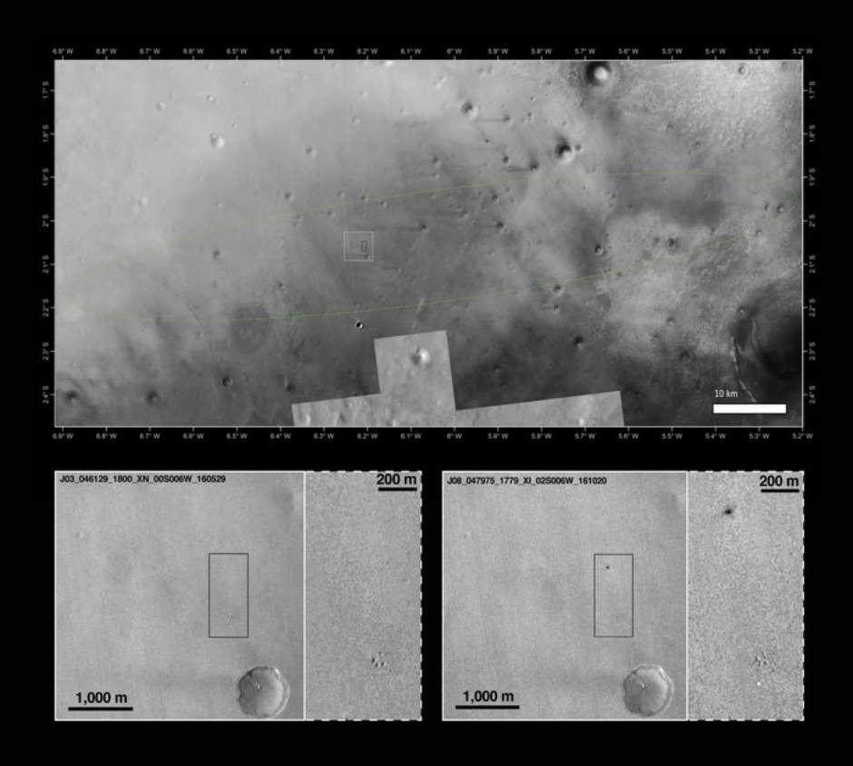 ESA divulga fotos em alta resolução do módulo Schiaparelli