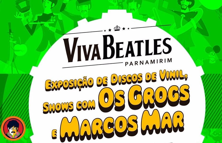 Viva Beatles: exposição de discos de vinil e shows no Cine Teatro de Parnamirim