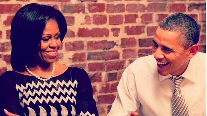 Michelle Obama comemora aniversário de Barack Obama