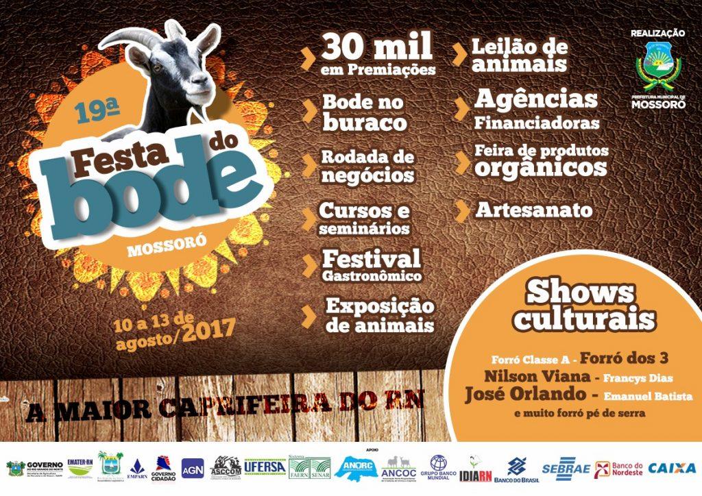 Cartaz Festa do Bode 2017