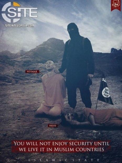 neymar e messi estado islâmico