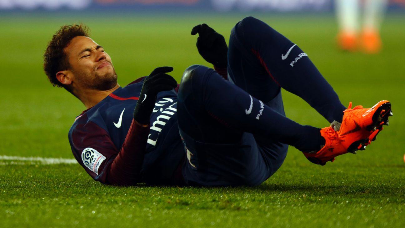 Neymar está fora de duelo contra Real Madrid na Champions