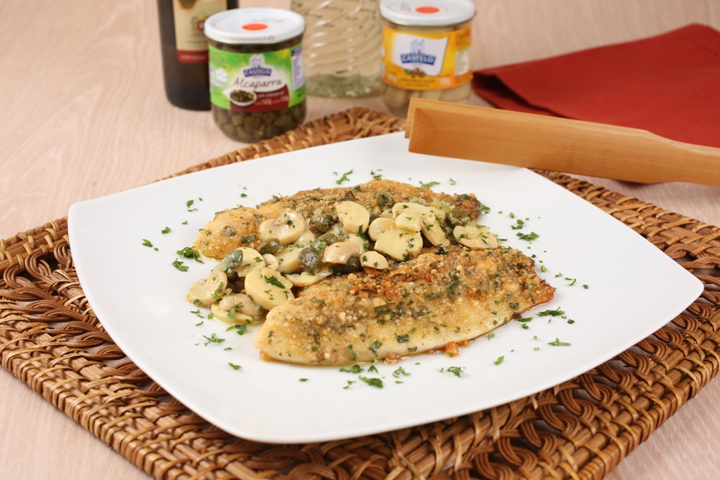 Dica Castelo Alimentos Filé de peixe com crosta de ervas