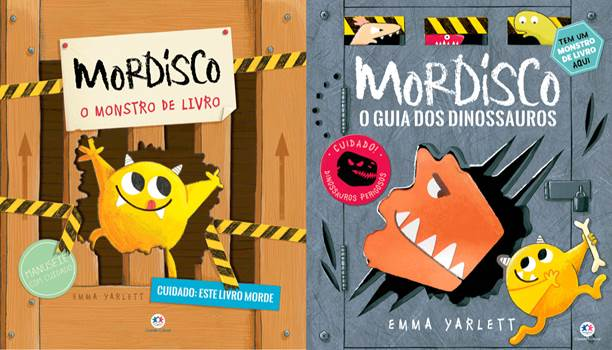 Livros tridimensionais colocam a criançada para interagir com um simpático invasor de histórias