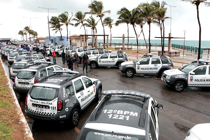 Segurança do RN recebe reforço de 50 viaturas