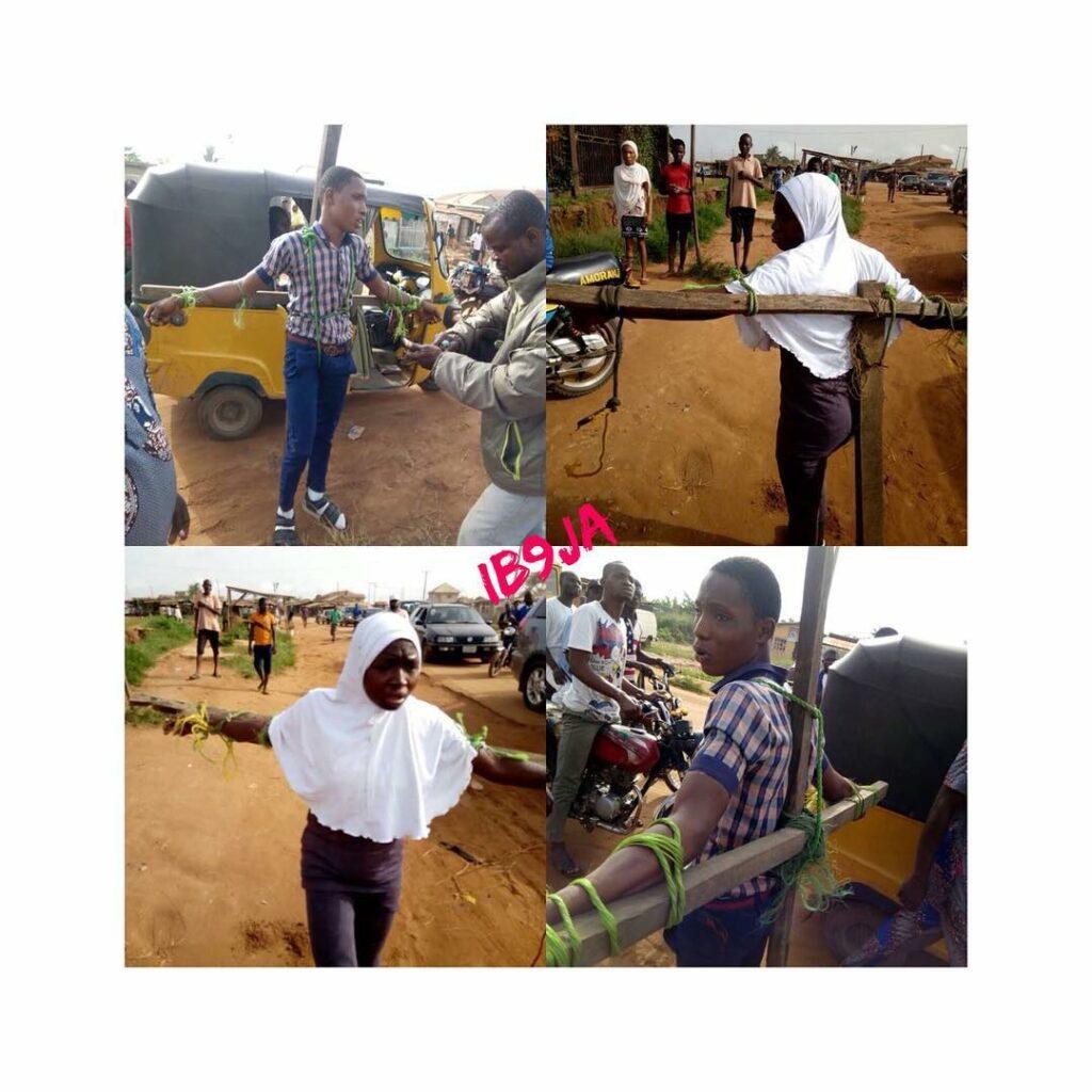 estudantes chicoteados na nigéria