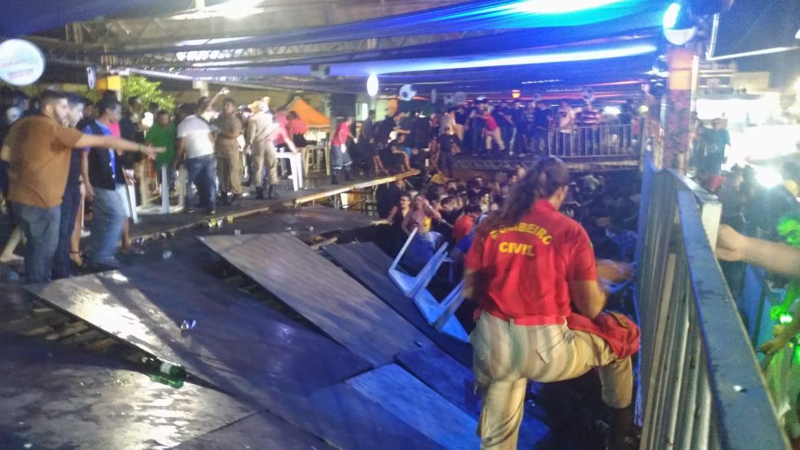 Mossoró Cidade Junina: parte de camarote desaba durante show de Xand Avião