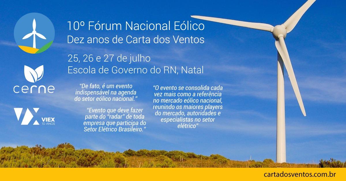 Natal sedia Fórum Nacional Eólico entre os dias 25 e 27 de julho