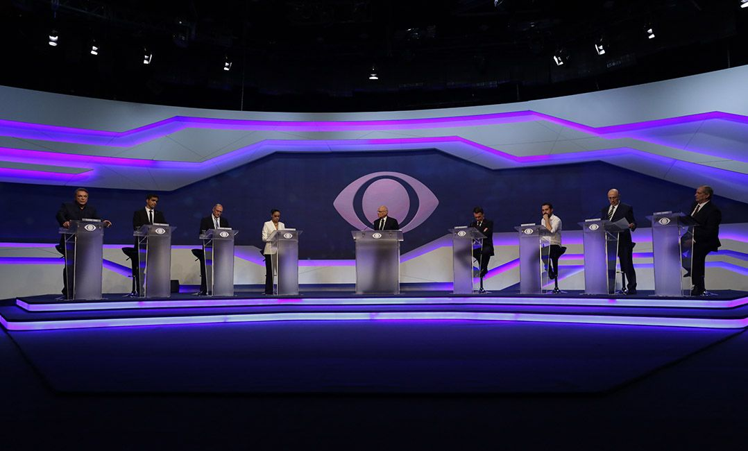 Candidatos realizaram na Band o primeiro debate na TV