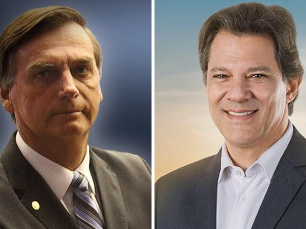Bolsonaro lidera com 28,2% e Haddad tem 17,6% diz Pesquisa CNT MDA
