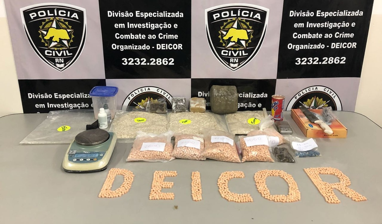 Polícia Civil apreende mais de 30 mil comprimidos de ecstasy na Zona Sul de Natal