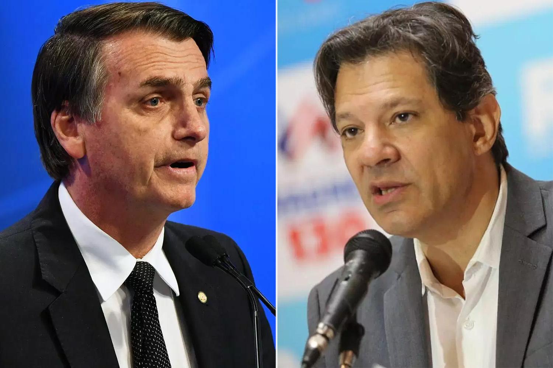 Bolsonaro tem 49% das intenções de voto e Haddad 36%, diz pesquisa Datafolha