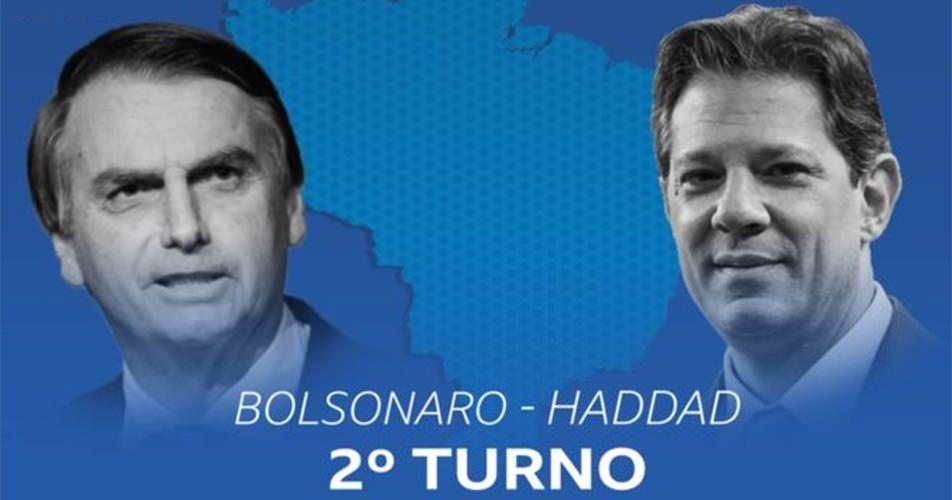 Bolsonaro chega a 59% dos votos válidos e Haddad 41%, diz pesquisa Ibope