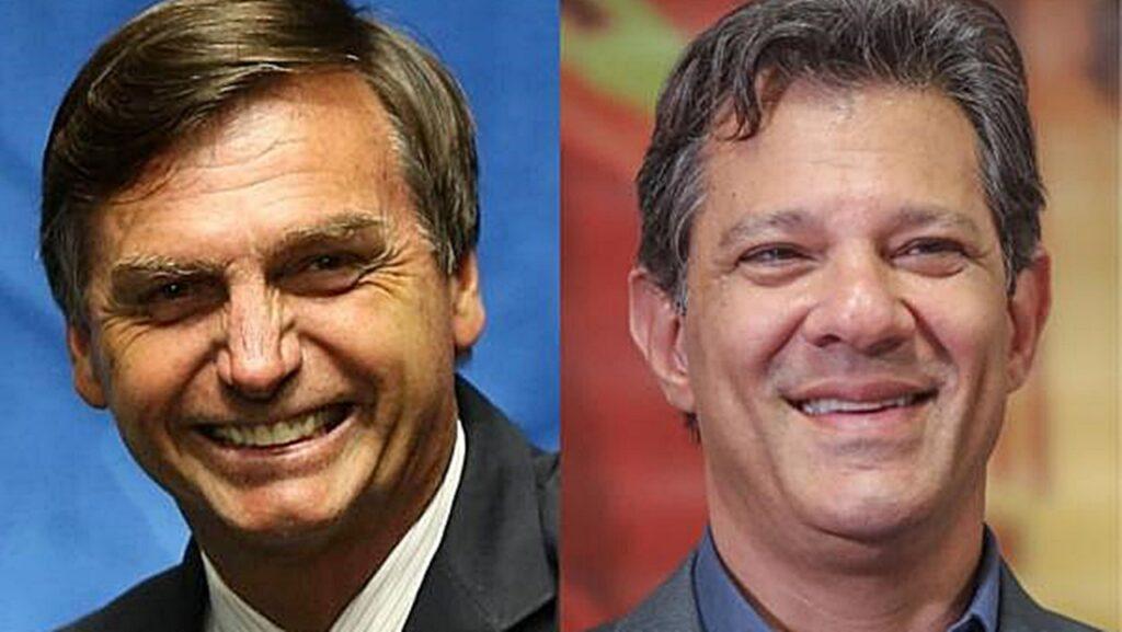 Bolsonaro tem 57% dos votos válidos e Haddad 43% diz pesquisa CNT MDA