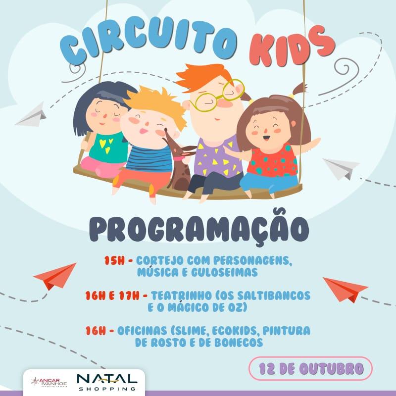 Dia das Crianças com diversão gratuita no Natal Shopping