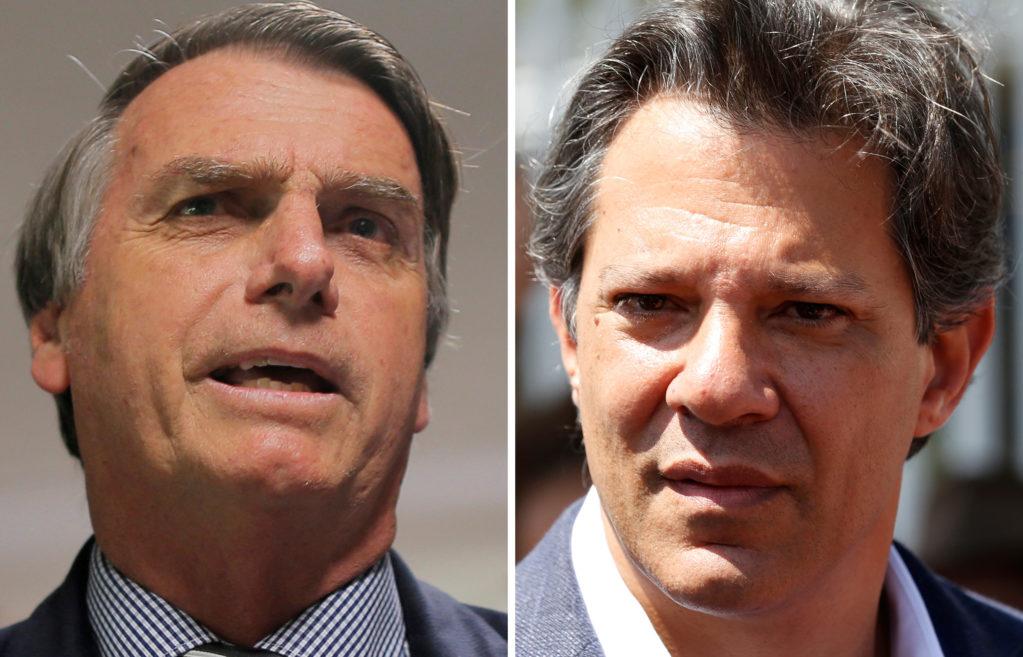 Pesquisa Ibope mostra que Bolsonaro chegou aos 31% e Haddad estacionou nos 21%