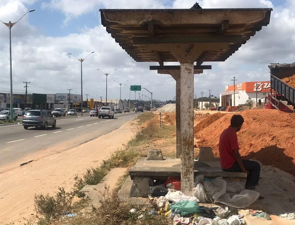 Defensoria apura situação de paradas de ônibus da BR-101 em Parnamirim