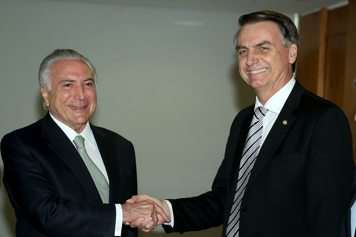 Bolsonaro revela que muita coisa do governo Temer vai ser mantida