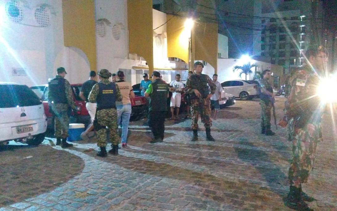 Guarda Municipal apreende 13 paredões de som em praça pública de Ponta Negra