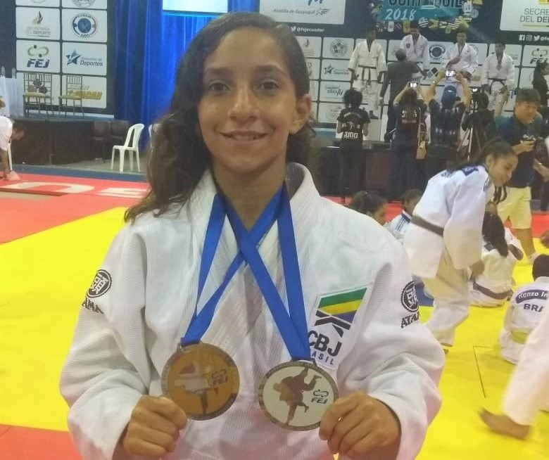 Judoca de Felipe Camarão conquista medalhas em competições no Equador