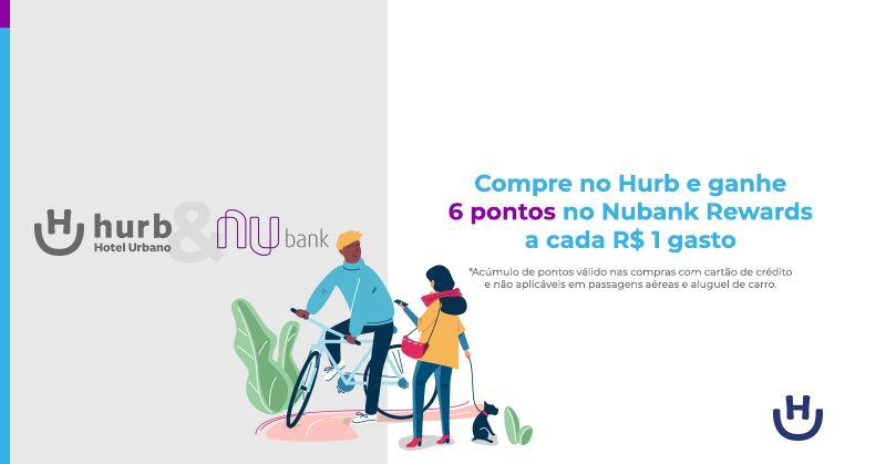 Parceria entre Hurb e Nubank rende pontos e benefícios para os clientes