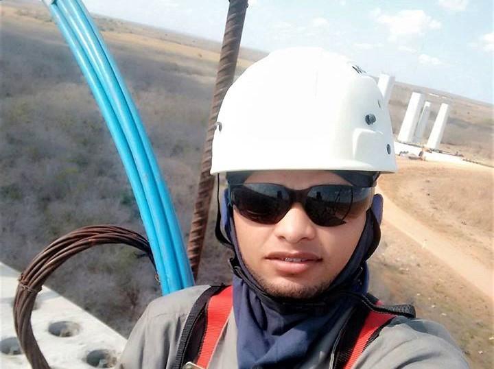 Jovem morre após cair de torre eólica no RN Diego Ferreira da Silva São Bento do Norte e Pedra Grande