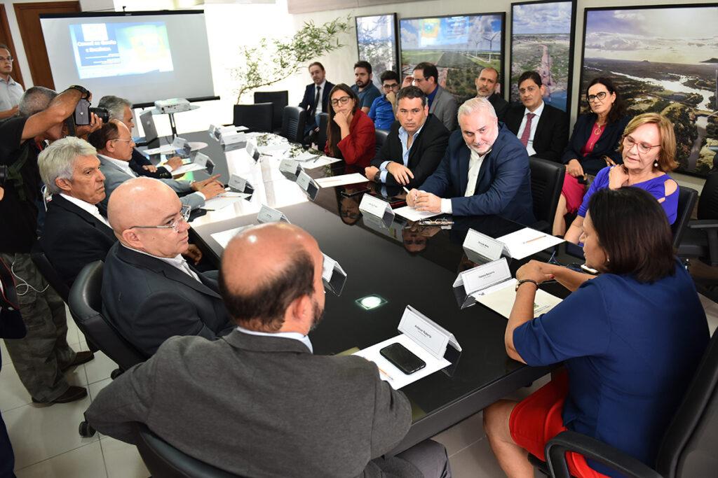 Reunião Bancada Federal com fátima bezerra