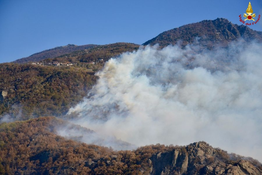 Incêndio destrói 100 hectares de floresta na Itália