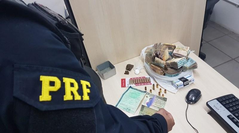 Homem é preso em São José de Mipibu com 50 mil reais sem comprovação de origem
