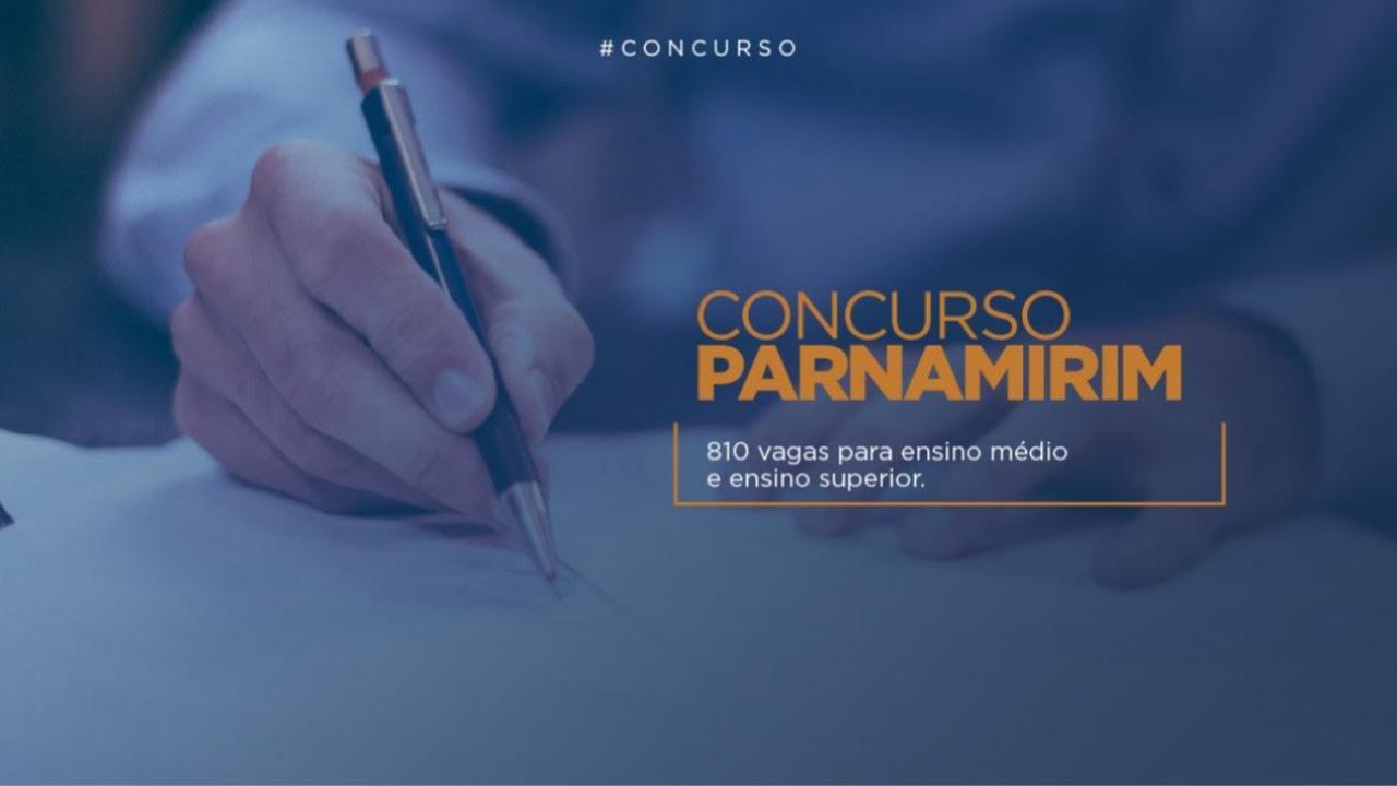 Inscrições para concurso público de Parnamirim terminam na segunda-feira (1º)