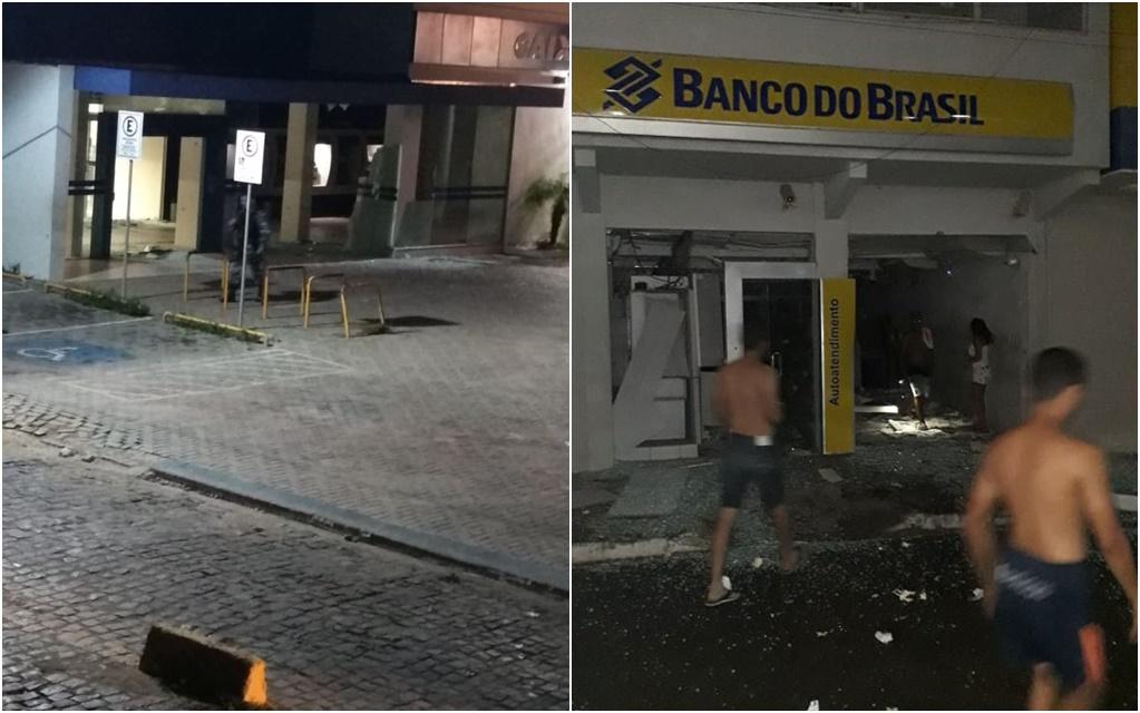 Quadrilha ataca três agências bancárias em São José de Mipibu