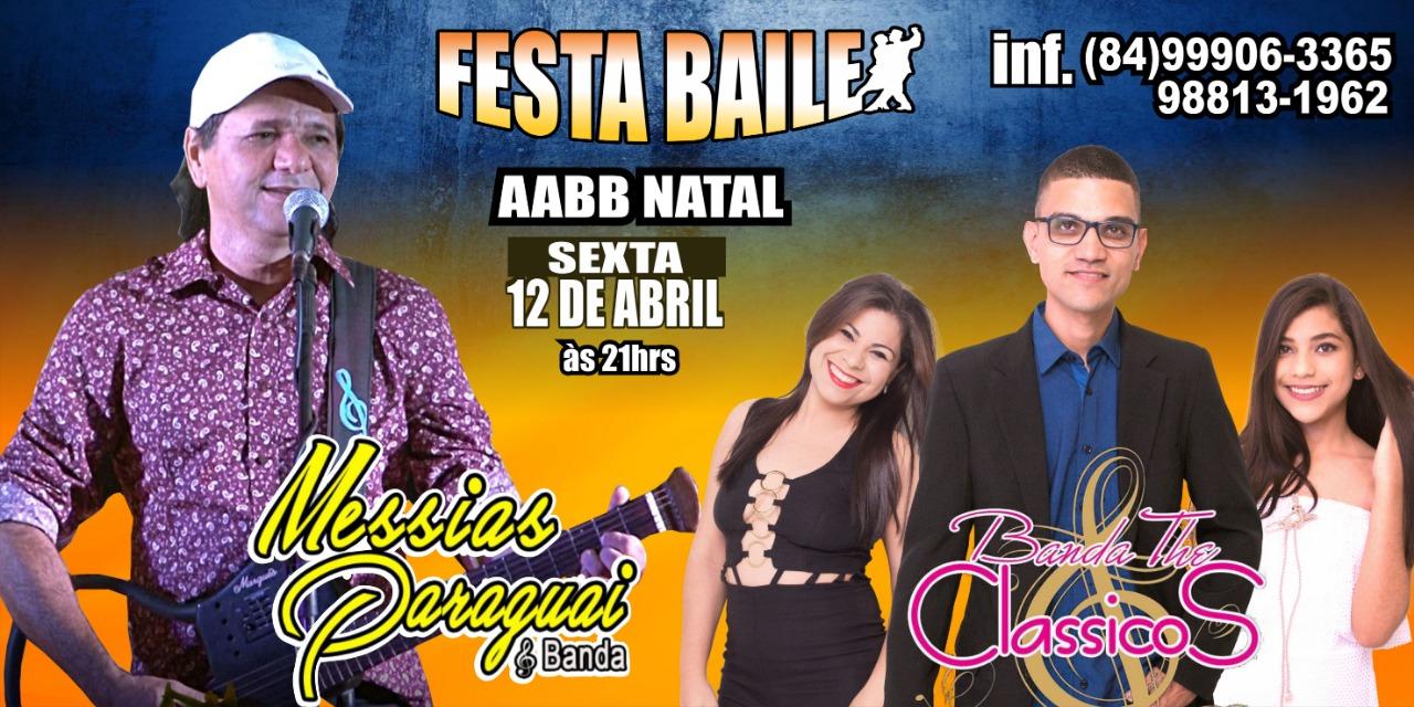 Messias Paraguai comanda festa baile na AABB dia 12