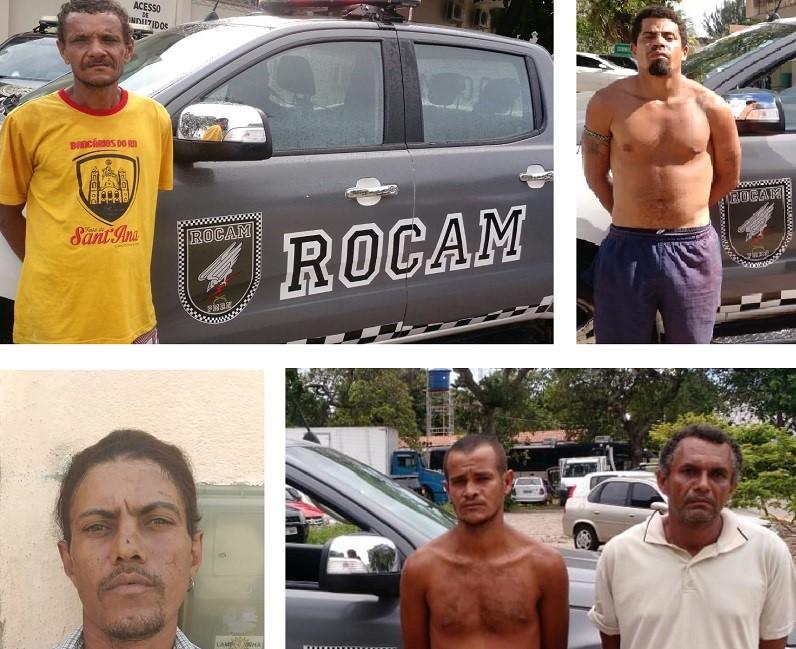 PM captura cinco foragidos da justiça em bairros Natal