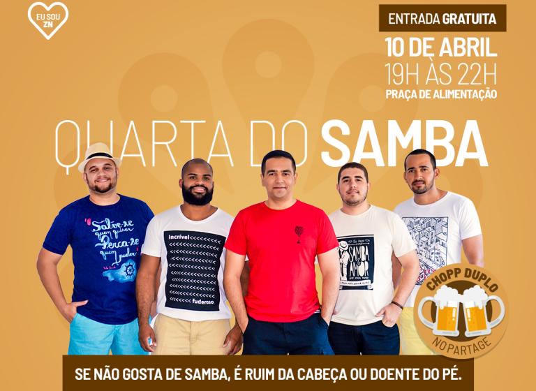 """Partage Norte Shopping promove edição especial da """"Quarta do Samba"""""""