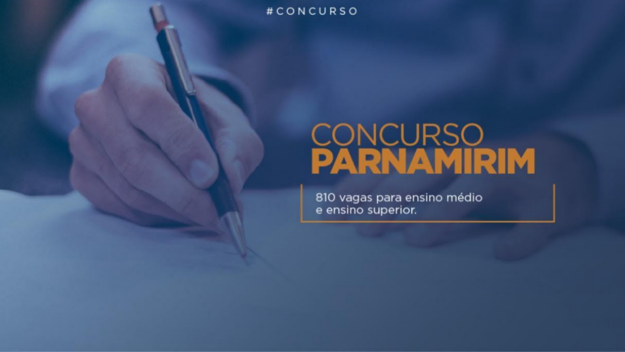 Provas do concurso público de Parnamirim acontecem no próximo domingo