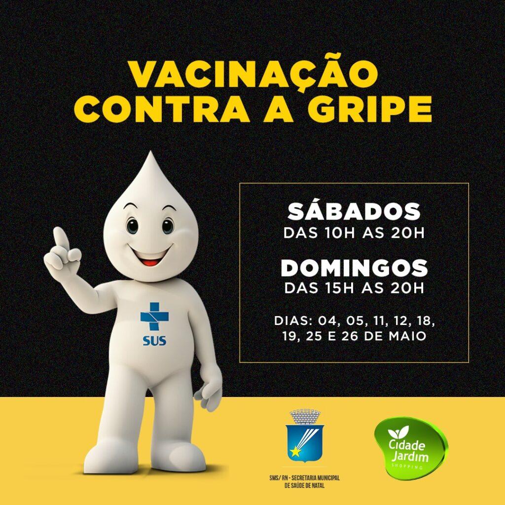 Campanha de vacinação contra gripe acontece este mês no Shopping Cidade Jardim