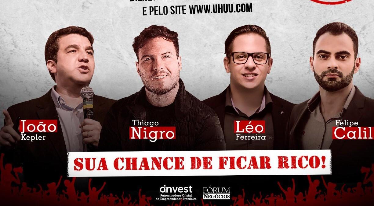 """""""Revolução Empreendedora"""" traz 'Primo Rico' e João Kepler à Natal"""