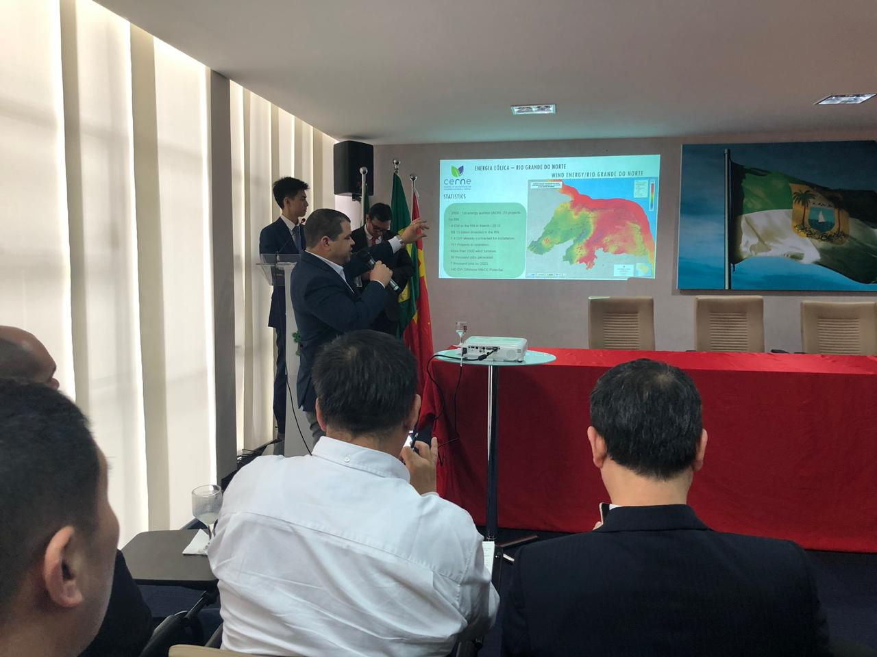 CERNE apresenta potencial energético do RN aos investidores chineses