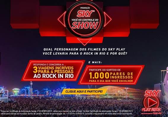 SKY levará mais de mil clientes ao Rock in Rio 2019