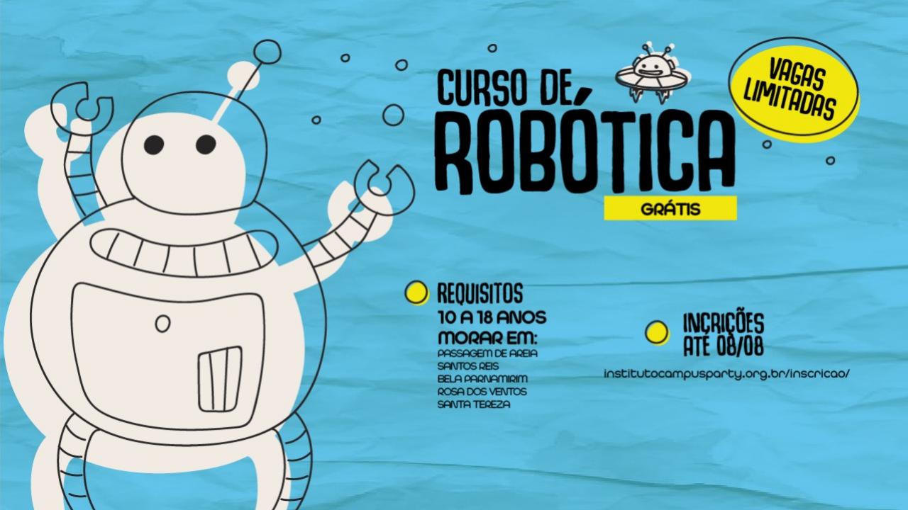 Curso gratuito de Robótica em Parnamirim