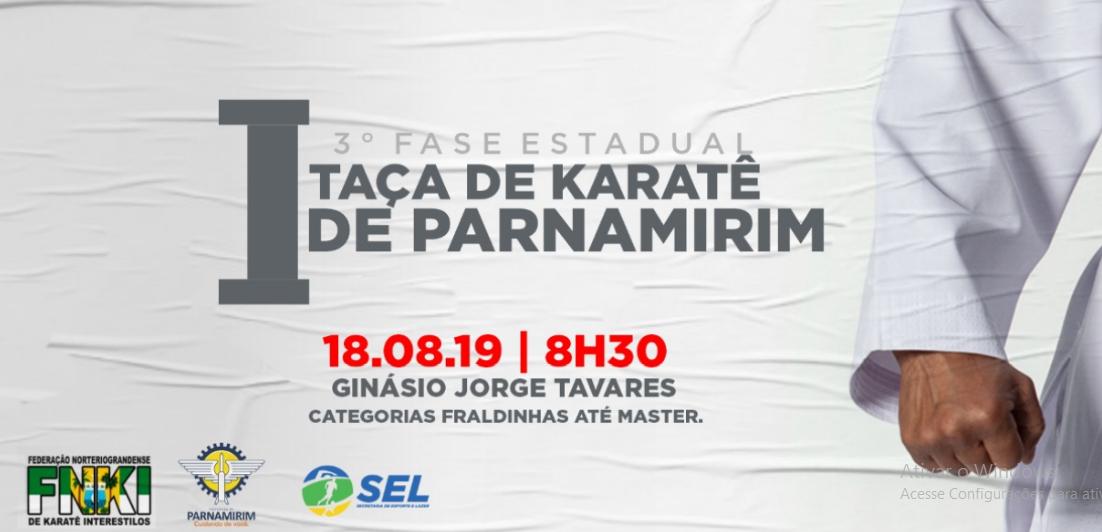 Parnamirim recebe 3ª etapa do Campeonato Estadual de Karatê