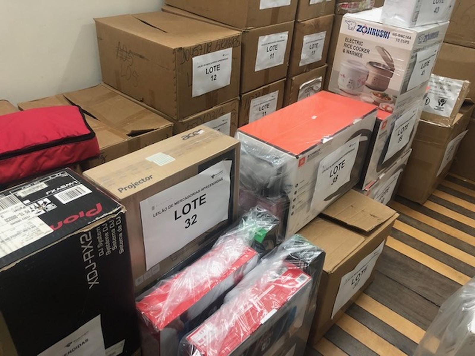 Receita Federal de Natal promove leilão com 84 lotes de mercadorias