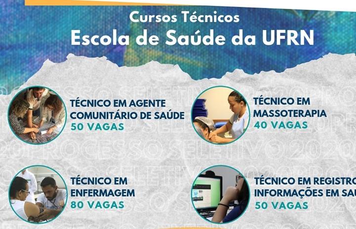 Escola de Saúde da UFRN abre inscrições para 220 vagas em quatro cursos técnicos