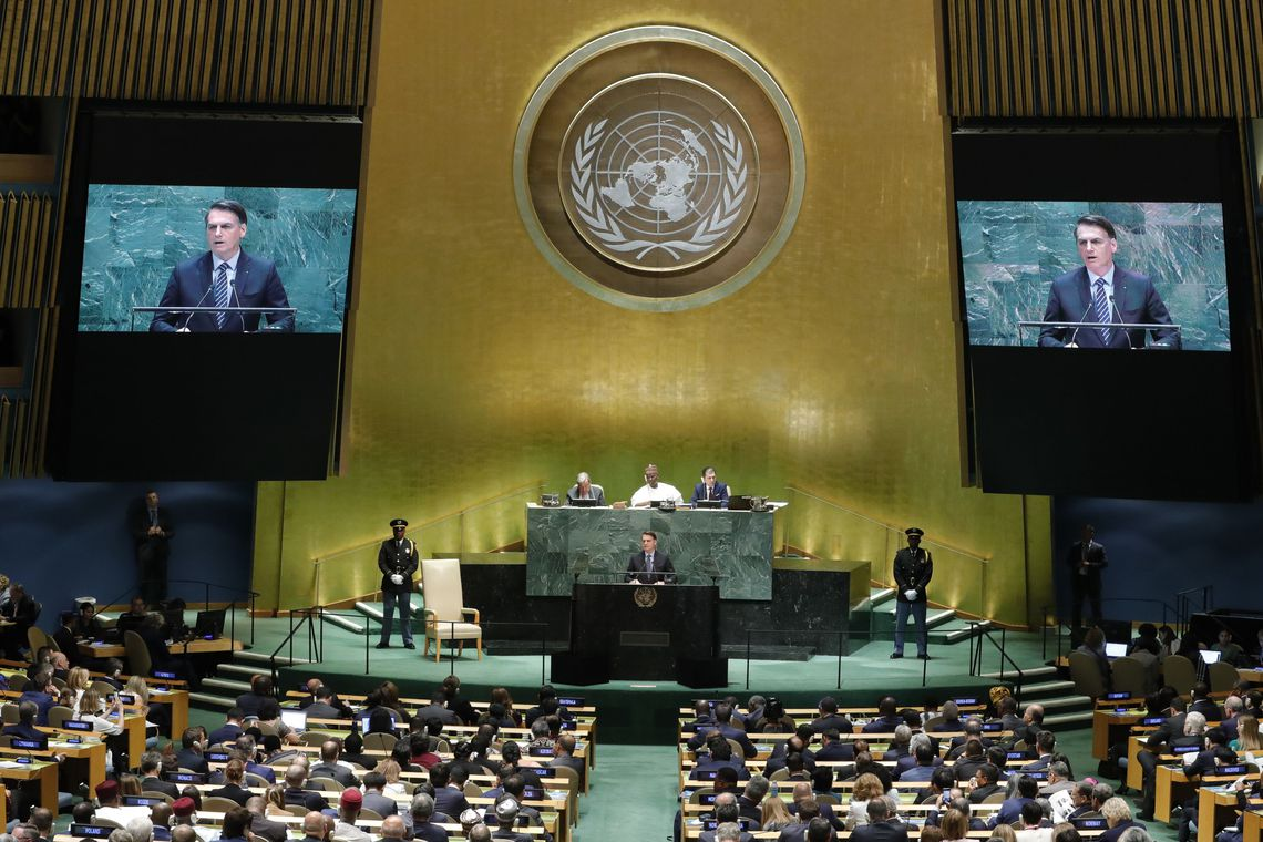 Na ONU, Bolsonaro ataca Macron, Cuba e Venezuela