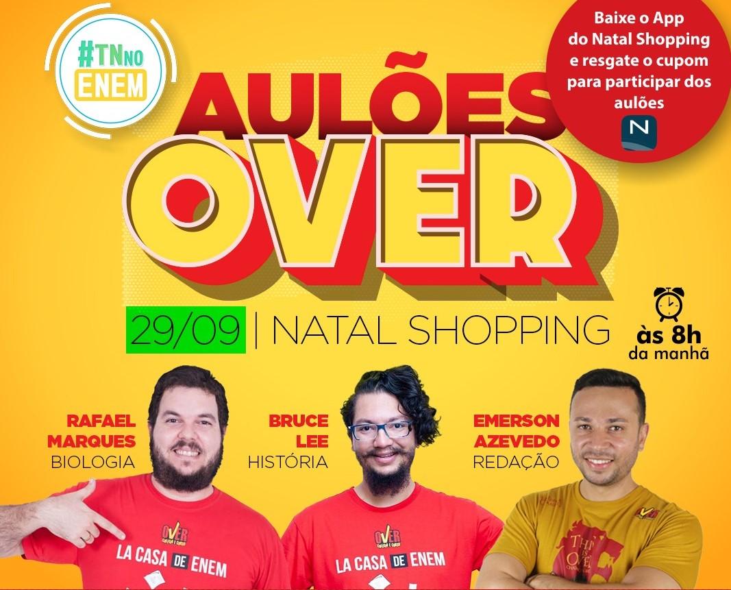 Natal Shopping recebe aulões gratuitos para o Enem 2019