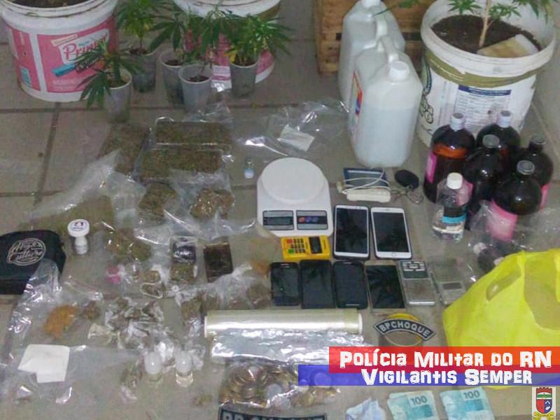 BPChoque prende 4 homens em residência utilizada para plantação de maconha